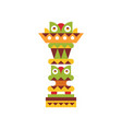 religious totem pole native cultural tribal vector image vector image