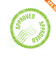 Rubber stamp approved - - EPS10 vector image