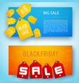 sale tags banner set vector image