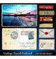 Santa Cruz Travel Vintage Postcard Design vector image vector image