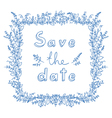 save date flower frame vector image vector image