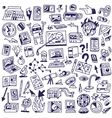 Science - big doodles set vector image