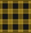 seamless black yellow tartan with white stripes vector image