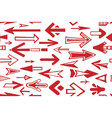 seamless pattern arrow pointers red color vector image