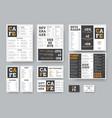 set black and white menu for restaurant vector image vector image
