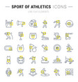 set line icons sport athletics vector image vector image