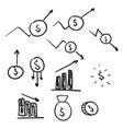 set money icons vector image