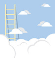 Single Ladder Through The Cloud Into The Sky vector image