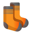 ski socks icon cartoon style vector image