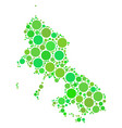 skyros greek island map collage of dots vector image vector image