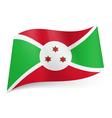 State flag of Burundi vector image vector image