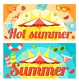 Summer holidays things on bright backdrop vector image vector image