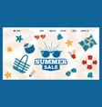 summer sale website design vector image