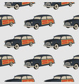 surf car pattern surfing seamless wallpaper vector image