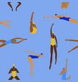 swimming women seamless pattern design vector image vector image