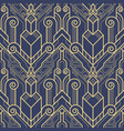 template abstract art deco blue cs6 vector image vector image