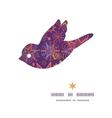 textured christmas stars bird silhouette pattern vector image