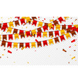 thanksgiving day flags garland on transparent vector image vector image