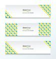 Triangle pattern Green And Yellow Styles vector image