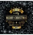 Typographic Retro Christmas Design vector image