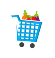 vegetables on shopping cart trolley grocery logo