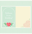 vintage frame with heart-shaped rose flower vector image vector image