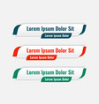 Web lower third banners template design set