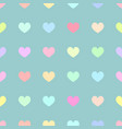 cute pastel rainbow or colorful polka dot in heart vector image
