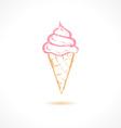 Ink Ice Cream icon vector image