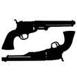 Classic Wild West revolvers vector image