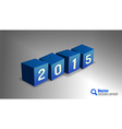 2015 Cubes vector image vector image