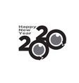2020 happy new year logo designs vector image
