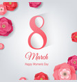 8 march womens day card vector image vector image