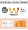 Abstract letter W identity pack concept Logo visit vector image vector image