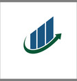 arrow growth logo design financial vector image