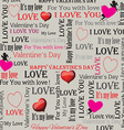 background to the day of lovers in vintage style vector image vector image