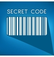 bar code on blue background vector image vector image