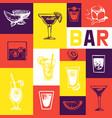 bar menu vintage design menu brochure vector image