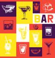 bar menu vintage design menu brochure vector image