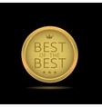 Best of the best label vector image vector image
