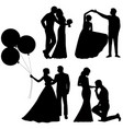 bride and groom set collection vector image vector image