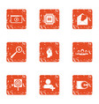 business representative icons set grunge style vector image vector image