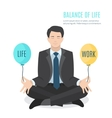 Businessman meditating vector image