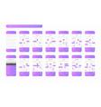 calendar mobile app ios ui ux concept kit vector image