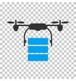 Cargo Drone Icon vector image vector image
