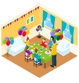 Celebration Of Birthday Isometric Design vector image vector image