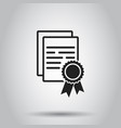 certificate diploma icon on isolated background vector image vector image