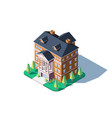 city residential building vector image