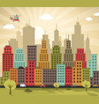 colorful city vector image vector image
