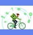 concept delivering online orders from online vector image